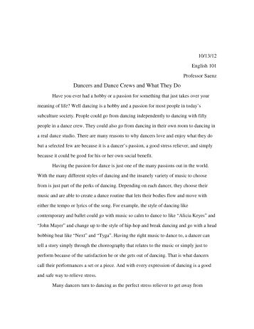 English  Sample Student Essays Sample Cause Essay   Saenz English