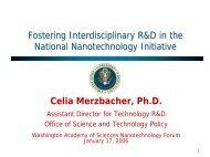 The keynote talk, given by Dr. Celia Merzbacher - Washington ...