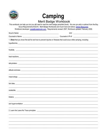 National Camping School - Pioneering Projects