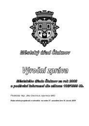 Výroční zpráva - informace 2008 - Šluknov