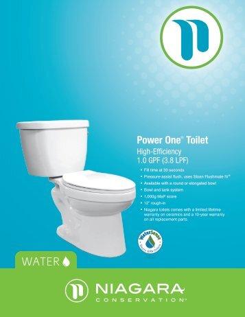 Power One® Toilet - Niagara Conservation