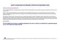 safety guidelines on personal protective equipment [ppe]