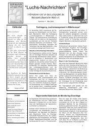 Luchs-Nachrichten 4 vom Mai 2004 - Das Luchsprojekt Bayern