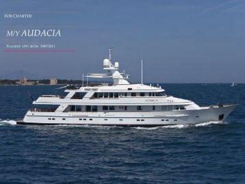 M/Y AUDACIA - Paradise Yacht Charters