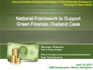 National Framework to Support Green Finance - Low Emissions ...
