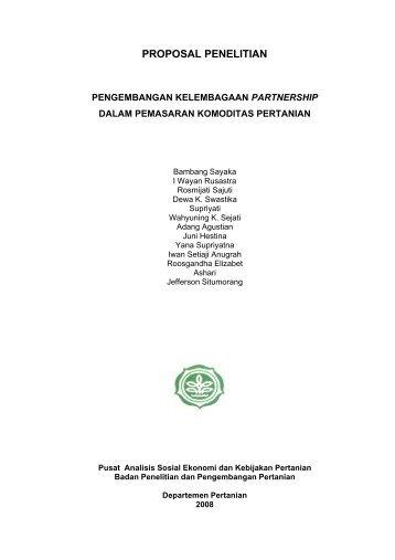 PROPOSAL PARTNERSHIP BBS 2008 - Pusat Sosial Ekonomi dan ...
