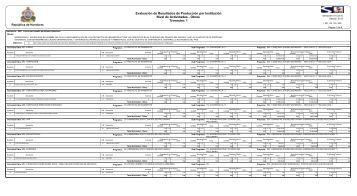 Evaluación de Resultados de Producción Trimestre I 2013