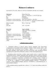 Rámcová smlouva na II. část VZ (23/07/2012 ... - Město Česká Lípa
