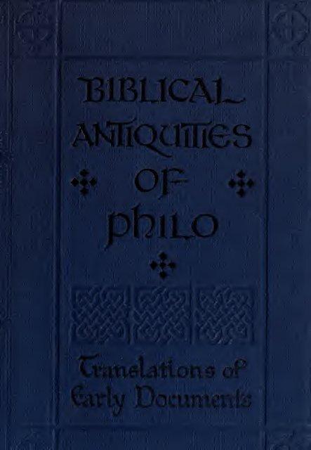 The biblical antiquities of Philo - Warburg Institute