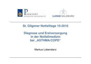 ASTHMA-Exazerbation - Verein Turnusärzte Salzburg