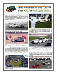 AGAIN 2007 Rolex 24 Heritage Exhibition - 1966 Shelby Notchback ...