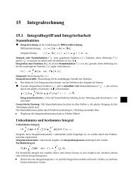 15 Integralrechnung