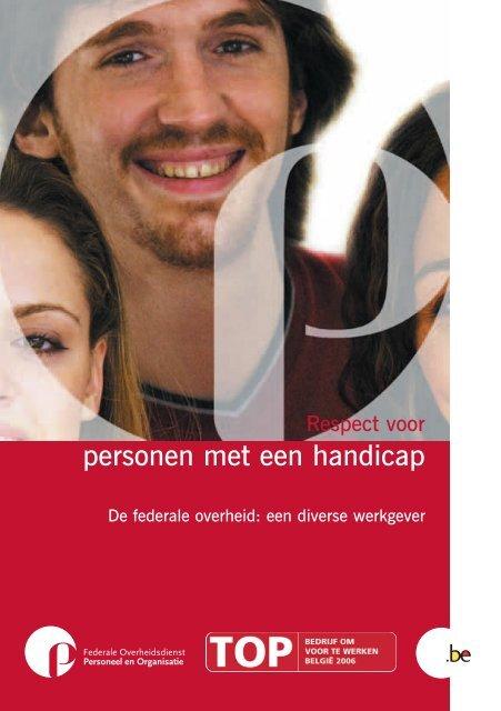 Respect voor personen met een handicap (PDF, 490.5 Kb) - Fedweb