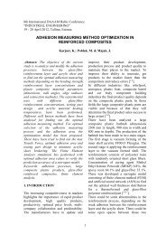 Adhesion process optimization in reinforced composites