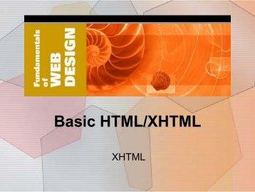 1. Basic HTML