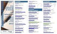 Prix littéraires de la rentrée 2012