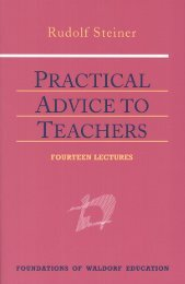 Practical Advice to Teachers - Waldorf Research Institute