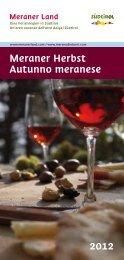 Meraner Herbst Autunno meranese 2012 - Meraner Land