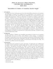 Th`ese de doctorat `a Mines ParisTech CENTRE DES MATERIAUX ...