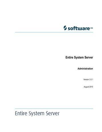 Ending Entire System Server - Software AG Documentation