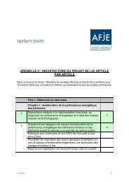 GRENELLE II : ARCHITECTURE DU PROJET DE LOI ... - AFJE