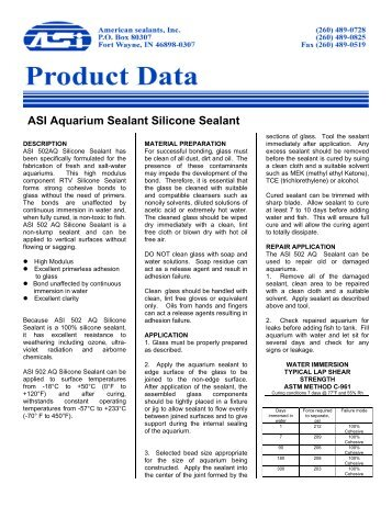 Asi Construction Documents Chatham Plumbers Clear Silicone Sealant