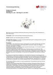Design der Zukunft_Veranstaltungsmitteilung (PDF) - VDID