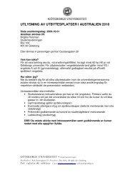 utlysning av utbytesplatser i australien 2010 - Utbildning - Göteborgs ...
