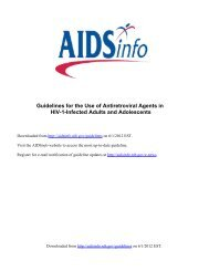 USA HIV ARV guidelines for adults and adolescents updated April