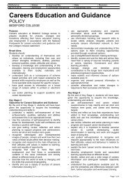 Careers Education & Guidance Policy - Bideford College Online
