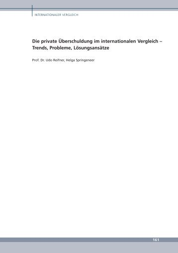 Die private Überschuldung im internationalen Vergleich – Trends ...