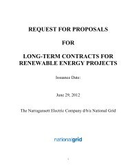 REQUEST FOR PROPOSALS FOR LONG-TERM ... - National Grid