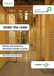 Under the radar - Centre for Mental Health