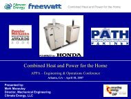 Combined Heat and Power for the Home