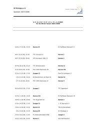 Spielzeit 2007/2008 - Tischtennis beim SV Mistelgau
