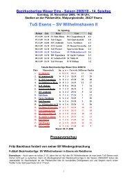 Saison 2009/10 - 14. Spieltag