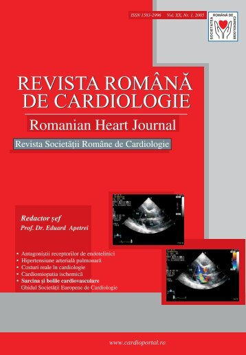 Nr. 1, 2005 - Romanian Journal of Cardiology
