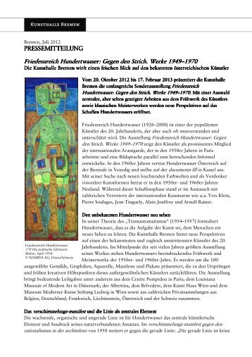 PM_KHB Hundertwasser - Kunsthalle Bremen