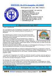 SPORTECHO Nr.274,Ausgabe 18/2007 - TuS-Medebach