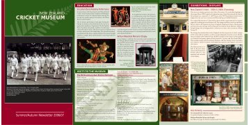 CRICKET MUSEUM - New Zealand Cricket