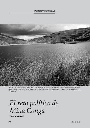 El reto político de Mina Conga - Desco