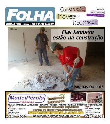 Elas também estão na construção - Folha Ribeirão Pires