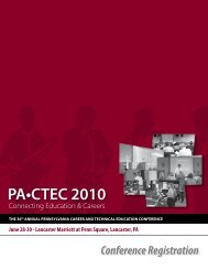 PA•CTEC 2010 - Center for Career and Technical Personnel ...