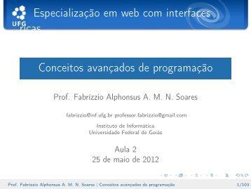 Conceitos avançados de programação - Instituto de Informática - UFG