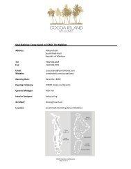 Vital Statistics: Cocoa Island by COMO, The Maldives Address ...