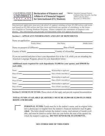 ... Financial Declaration Form