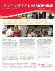 Le monde de l'hémophilie - Décembre 2012 Volume 19 No.3