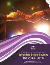 Secondary School Courses for 2013-2014 - South Carleton High ...