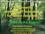 Speech E.A. Sims - Second World Renewable Energy Forum