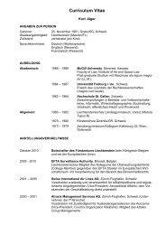 Lebenslauf - Regierung des Fürstentums Liechtenstein